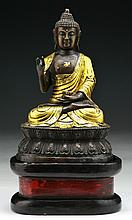 A Chinese Vintage Bronze Amitayus