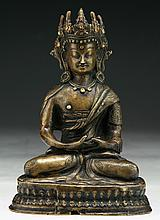 A Chinese Antique Bronze Amitayus