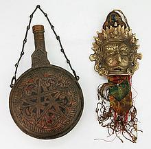 Two (2) Bronze Tibetan Or Like Items