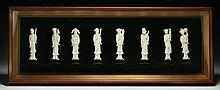 Set of Chinese Antique Framed Ivory: Eight Immortals