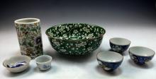 Seven (7) Mixed Asian Porcelain Items