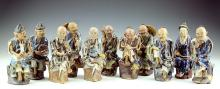 Eleven (11) Chinese Shiwan Kiln Porcelain Figures