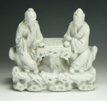 A Chinese Blanc De Chine Porcelain Figure Group