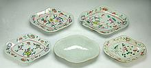 Five (5) Chinese Antique Famille Rose Porcelain Plates
