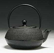 An Antique Japanese Iron Teapot
