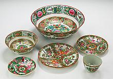 Six (6) Chinese Antique Rose Medallion Porcelain Items