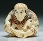 A Japanese Antique Carved Ivory Netsuke Figure