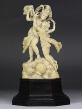 An Indian Antique Ivory Carved Figure Group