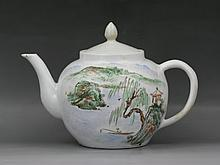 A Chinese Antique Famille Rose Teapot