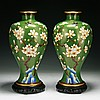 Pair Big Chinese Antique Cloisonne Bronze Vases