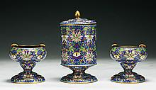Set of Three (3) Chinese Antique Cloisonne Cigarette Holders
