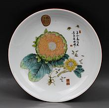 A Chinese Rare 'Famille-Verte' Porcelain Plate
