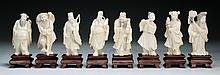 Eight (8) Chinese Antique Carved Ivory Immortals