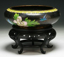 A Chinese Antique Cloisonne Brush Washer