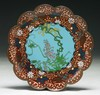A Japanese Antique Silver Ando Cloisonne Plate
