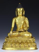 A Nepalese Antique Gilt Bronze SHAKYAMUNI