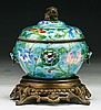 A Chinese Antique Cloisonne Silver Box