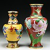 Two (2) Chinese Antique Cloisonne Bronze Vases