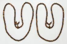 Two (2) Agarwood Beaded Necklaces