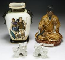 Four (4) Chinese Porcelain Items