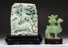 Two (2) Chinese Jadeite Or Jade Carvings