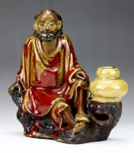A Chinese Antique Shiwan Porcelain Figure