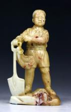 A Chinese Soapstone Carved Figure, of Cultural Revolution Period