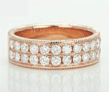 18k Solid Rose Gold 1.50ct Diamond Ring