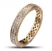 14k Solid Yellow Gold 1.26ct Diamond Ring