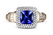 18k Two-Tone Gold 1.82ct Tanzanite and Diamond Ring
