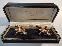 Tie rack of London Business Jet Cuff Links