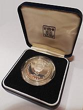 1983 Mozambique 50 Meticais Silver Proof Coin