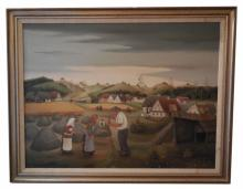 Original Joze Peternelj-Mausar Oil on Canvas Painting