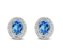 18k White Gold 3.92ct Topaz and Diamond Ring