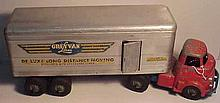 Wyandotte Grey Van Lines Pressed Steel Tractor and Trailer