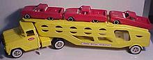 1950s Tonka Motor Transport with Vehicles (Restored)
