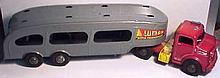 Vintage Lumar Auto Transport Truck and Trailer
