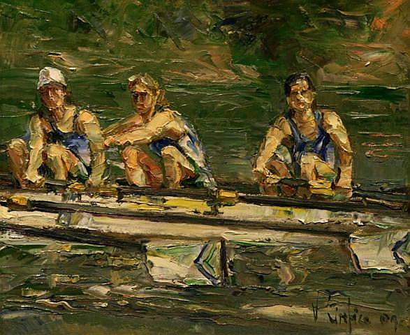 Vittorio Cirefice Female Seniors Queens, 2009 Oil