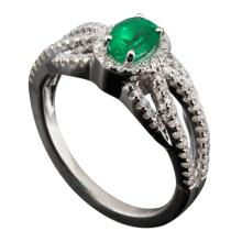 Art Deco Inspired Emerald Ring