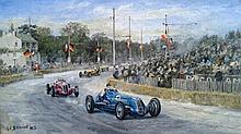 Charles Drouot (1955-) Course de voiture, Grand prix 1946 / Racing cars, Grand prix 1946