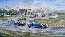 Charles Drouot (1955-) Course de voiture / Racing cars
