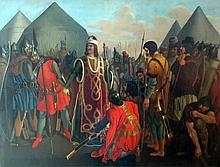 Ludwig Vogel (1788-1879) Soldats en armures autour d'Ivan le terrible?