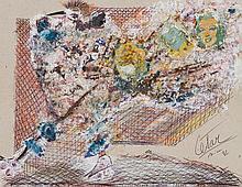 César Baldaccini (1921-1998) Poule sur patins à roulettes