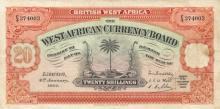 20 Shillings banknote (1937), West African Currency Board.