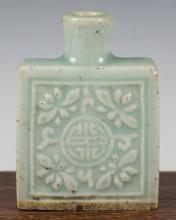 Celadon Rectangular Snuff Bottle