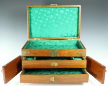 Yellow Rosewood Jewelry Box