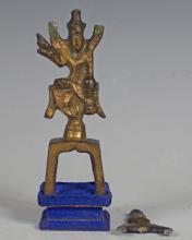 Copper Gilt Buddha Figure