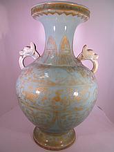 Celadon Gold Vase Quinlong Mark