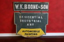 Two Sided Swinging Automobile Painting Store Sign