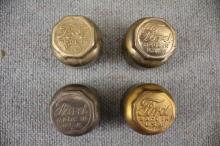 Four Ford Threaded Model T Center Caps